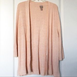 Chico's Open Front Knit Cardigan Sweater Peach